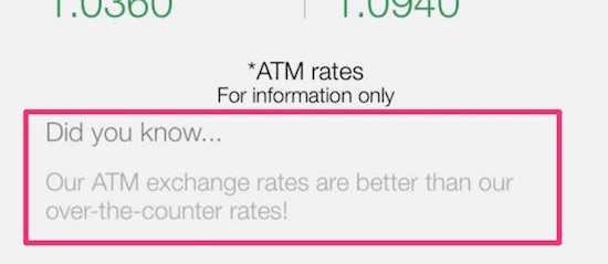 BCV currency exchange rate fees are lower at their ATM compared to over-the-counter