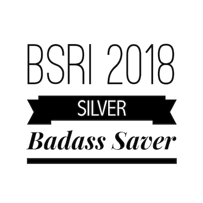 Mustachian Post Badass Saver 2018 Silver Badge